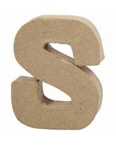 Letter, S, H: 10 cm, W: 8 cm, thickness 1,7 cm, 1 pc