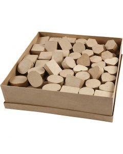 Mini Boxes, H: 3 cm, D: 4-6 cm, 6x24 pc/ 1 pack
