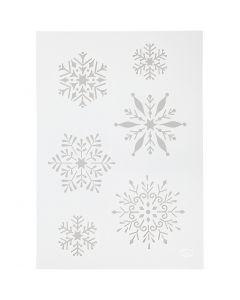 Stencil , snow flake, A4, 210x297 mm, 1 pc