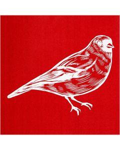 Screen Stencils, bird, 20x22 cm, 1 sheet