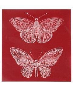 Screen Stencils, butterfly, 20x22 cm, 1 sheet