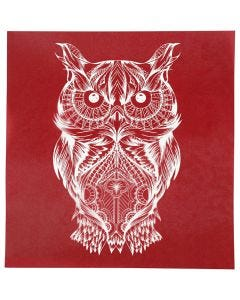 Screen Stencils, owl, 20x22 cm, 1 sheet
