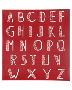 Screen Stencils, alphabet, 20x22 cm, 1 sheet