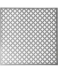 Stencil, round squares, size 30,5x30,5 cm, thickness 0,31 mm, 1 sheet