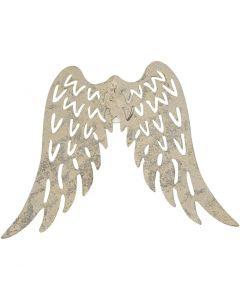 Metal Wings, H: 6 cm, W: 7,5 cm, 5 pc/ 1 pack