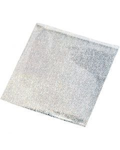 Art and Craft Foil, 10x10 cm, silver, 30 sheet/ 1 pack