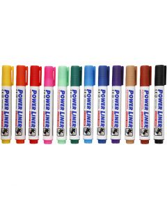 Whiteboard Markers, assorted colours, 12 pc/ 1 pack