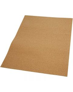 Cork Sheets, size 35x45 cm, thickness 2 mm, 4 pc/ 1 pack