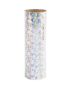 Deco Foil, W: 15,5 cm, silver, 50 cm/ 1 roll