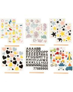 Rub-on Sticker, 12,2x15,3 cm, 12 sheet/ 1 pack