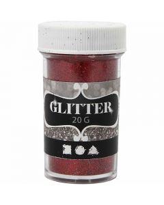Glitter, H: 60 mm, D: 35 mm, red, 20 g/ 1 tub