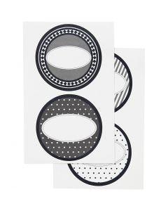 Stickers, D: 4 cm, 9x14 cm, 4 ass sheets/ 1 pack