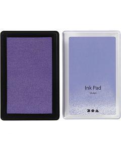 Ink Pad, H: 2 cm, size 9x6 cm, violet, 1 pc