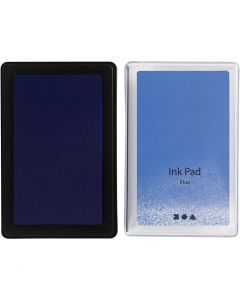Ink Pad, H: 2 cm, size 9x6 cm, blue, 1 pc