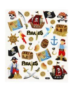 Stickers, pirates, 15x16,5 cm, 1 sheet