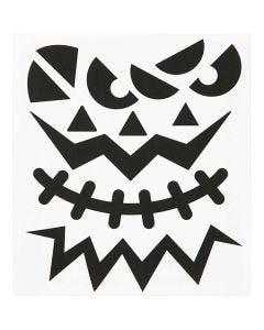Motif Stickers, halloween - big faces, 15x16,5 cm, 1 sheet