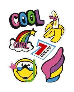 Soft Stickers, Cool Girl, 12,2x17,75 cm, 1 sheet