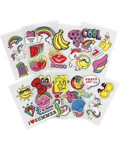 Soft Stickers, 12,2x17,75 cm, 8 sheet/ 1 pack