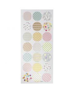 Stickers, pastels, 10x23 cm, 1 sheet
