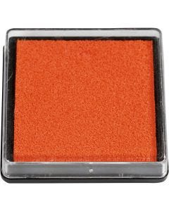 Ink Pad, size 40x40 mm, orange, 1 pc
