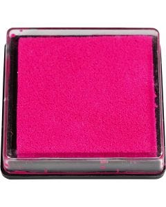 Ink Pad, size 40x40 mm, pink, 1 pc