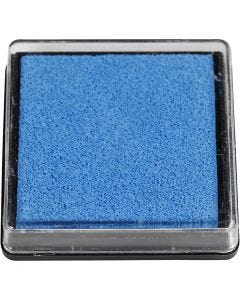 Ink Pad, size 40x40 mm, light blue, 1 pc