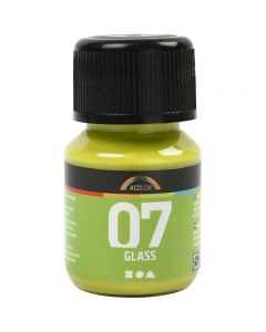 A-Color Glass Paint, kiwi, 30 ml/ 1 bottle