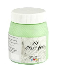 3D Glass Gel, green, 250 ml/ 1 tub