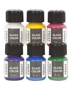 Glass Color Frost, assorted colours, 6x30 ml/ 1 pack
