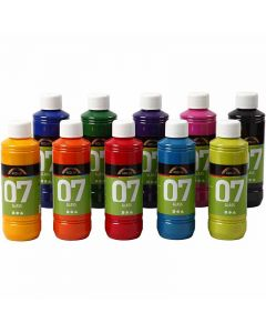 A-Color Glass Paint, assorted colours, 10x250 ml/ 1 box
