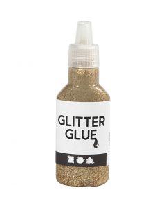 Glitter Glue, gold, 25 ml/ 1 bottle