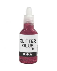 Glitter Glue, pink, 25 ml/ 1 bottle