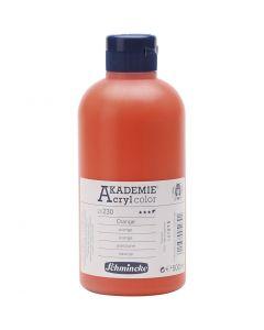 Schmincke AKADEMIE® Acryl color, semi-transparent, orange (230), 500 ml/ 1 bottle