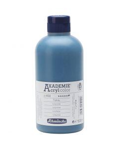Schmincke AKADEMIE® Acryl color, semi-transparent, turquoise (450), 500 ml/ 1 bottle