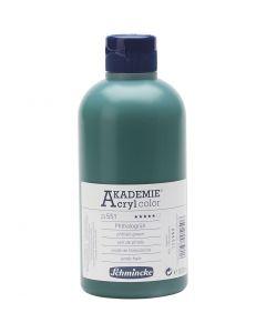 Schmincke AKADEMIE® Acryl color, transparent, phthalo green (551), 500 ml/ 1 bottle