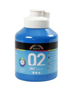 A-Color Acrylic Paint, matt, primary blue, 500 ml/ 1 bottle