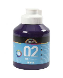 A-Color Acrylic Paint, no. 02, matt, violet, 500 ml/ 1 bottle