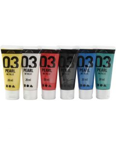 A-Color Acrylic Paint, metallic, standard colours, 6x20 ml/ 1 pack