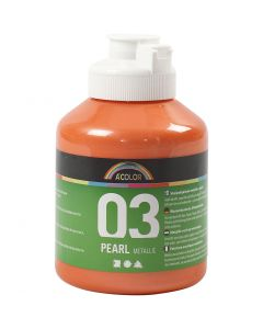 A-Color Acrylic Paint, metallic, orange, 500 ml/ 1 bottle