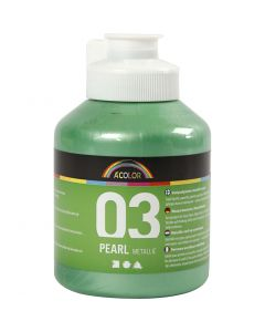 A-Color Acrylic Paint, metallic, light green, 500 ml/ 1 bottle