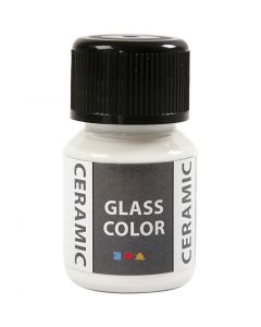 Glass Ceramic Paint, white, 35 ml/ 1 bottle