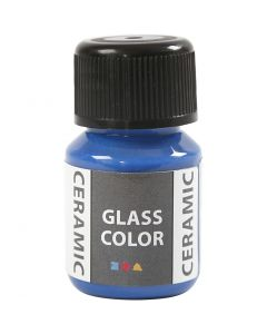 Glass Ceramic Paint, brilliant blue, 35 ml/ 1 bottle
