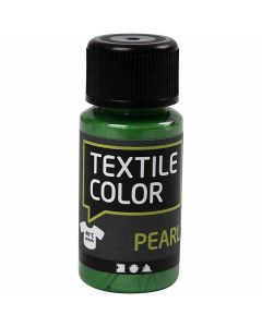 Textile Color Paint, mother of pearl, brilliant green, 50 ml/ 1 bottle