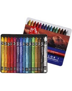 Neocolor I Crayons, L: 10 cm, thickness 8 mm, assorted colours, 15 pc/ 1 pack