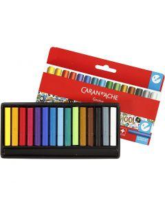 Neocolor II, L: 5 cm, assorted colours, 15 pc/ 1 pack