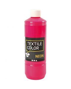 Textile Color Paint, neon pink, 500 ml/ 1 bottle