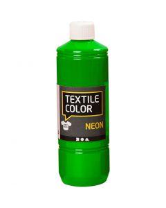Textile Color Paint, neon green, 500 ml/ 1 bottle
