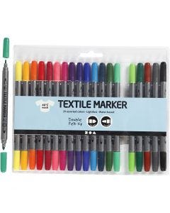 Textile Markers, line 2,3+3,6 mm, standard colours, 20 pc/ 1 pack