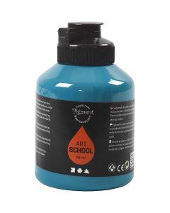 Pigment Art School Paint, opaque, turquoise, 500 ml/ 1 bottle