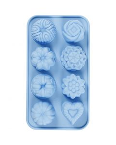 Silicone mould, small cakes, hole size 40x45 mm, 25 ml, 1 pc